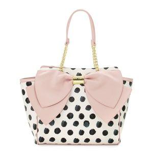 Betsey Johnson Polka Dot Bow Bag